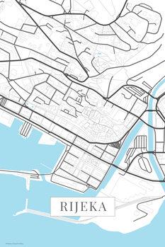 Χάρτης Rijeka white