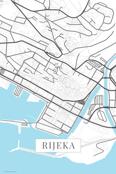 Mapa Rijeka white