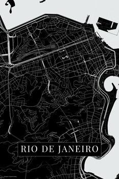 Mapa Rio de Janeiro black