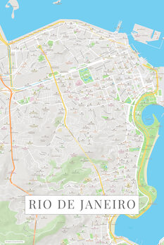 Harta Rio de Janeiro color