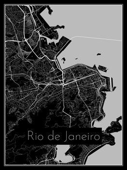 Kaart van Rio de Janeiro