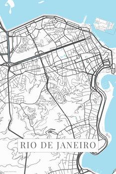 Carte Rio de Janeiro white