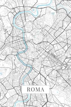 Mapa Roma white