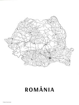 Karta România black & white