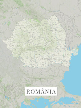 Mapa Romania color