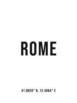 Illustration Rome simple coordinates