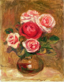 Roses in a pot Kunstdruk