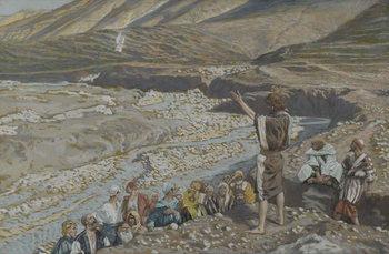 Artă imprimată Saint John the Baptist sees Jesus from Afar