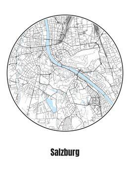 Kaart van Salzburg