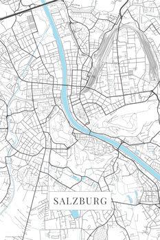 Mapa Salzburg white