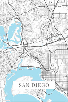 Mappa San Diego white