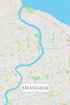 Mapa Šanghaj color