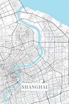 Mapa Šanghaj white