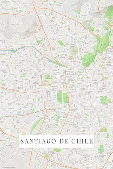 Harta Santiago De Chile color