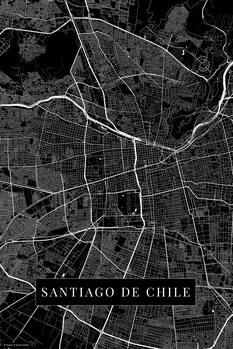 Mapa Santiago De Chile_black