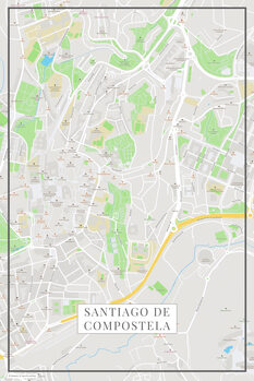 Stadtkarte Santiago de Compostela color