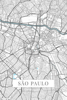 Mapa Sao Paulo white