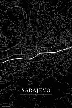 Mapa Sarajevo black