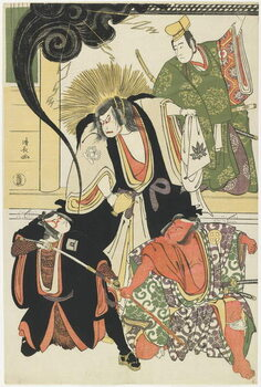 Obrazová reprodukce Scene from the AKbuki Play Yukimotsutake furisode Genji, 1785