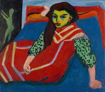 Umelecká tlač Seated Girl (Fränzi Fehrmann), 1910