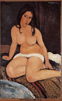 Obrazová reprodukce Seated Nude - Peinture de Amedeo Modigliani