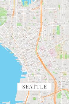 Mapa Seattle color
