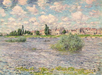 Seine at Lavacourt Kunsttryk