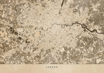 Mapa Sepia vintage map of London
