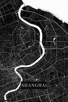 Mapa Shanghai black