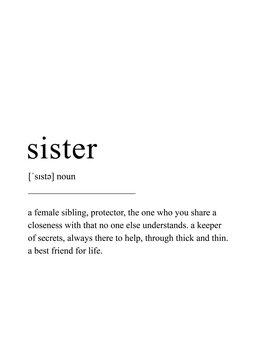 Ilustrácia Sister definition