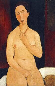 Obrazová reprodukce Sitting Nude with Necklace