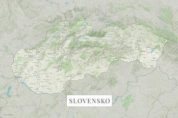 Mapa Slovensko color