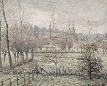 Snow Effect at Eragny, 1894 Obrazová reprodukcia