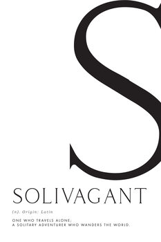 Ilustrace Solivagant traveller definition