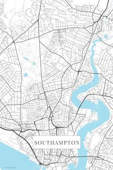 Mapa Southampton white