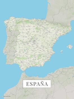 Mapa Španělsko color