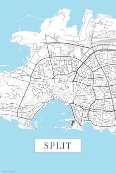 Mapa Split white