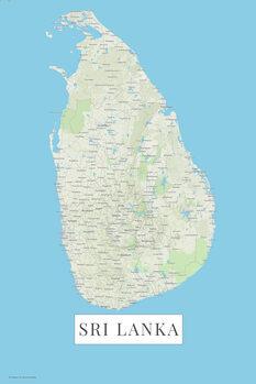Mapa Sri Lanka color