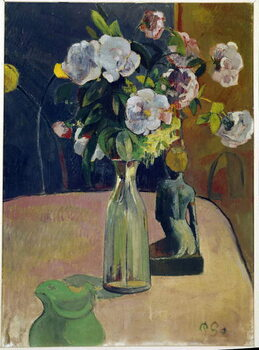 Obrazová reprodukce Still life with roses and statue
