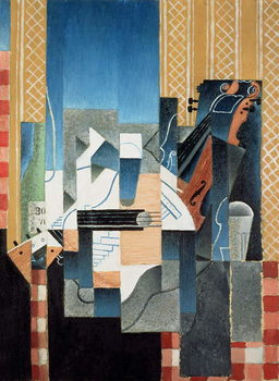 Reprodukcija umjetnosti Still Life with Violin and Guitar, 1913