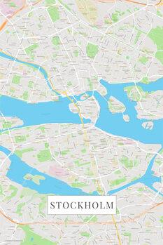 Mapa Stockholm color