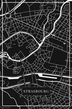 Χάρτης Strasbourg black