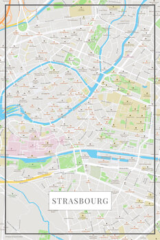 Mapa Strasbourg color