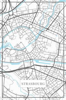 Χάρτης Strasbourg white