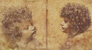 Reproducción de arte  Study of a child's head