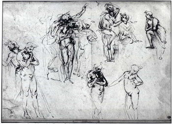 Study of nude men Reproduction de Tableau