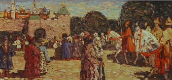 Sunday, Old Russia, 1904 Reproduction de Tableau