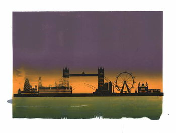 Obrazová reprodukce Sunset on London