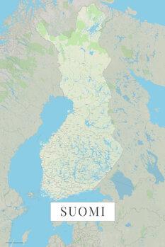 Mapa Suomi color