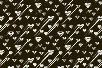 Poster de artă Superman - Black and white symbol